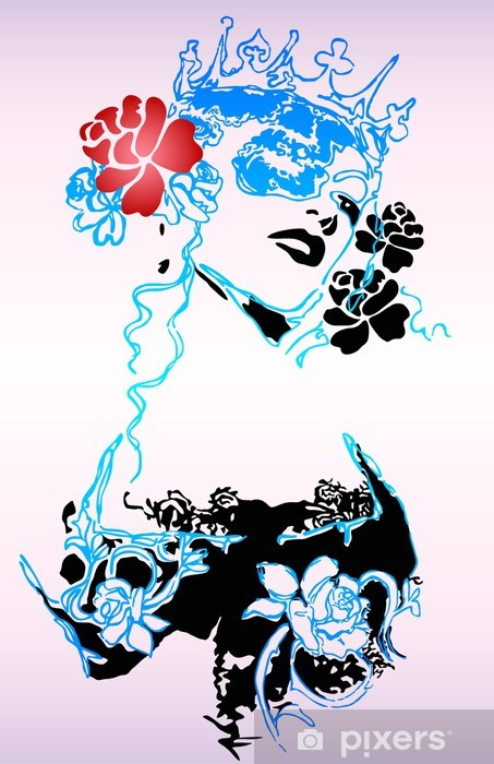Naklejka Pixerstick Moda kobieta plakat - Moda