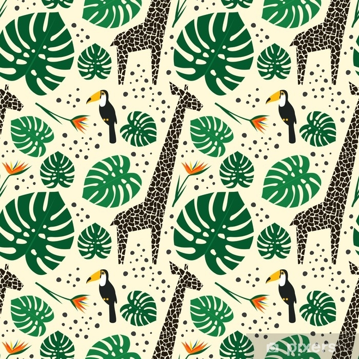 Background Jungle Animals, Sheer Patterned Curtains Nz