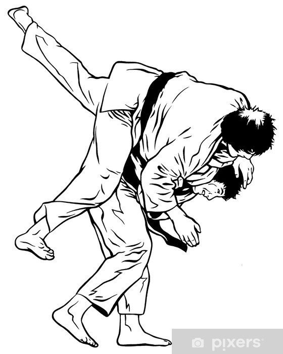 Vinyl Fotobehang Judo worp - Extreme sport