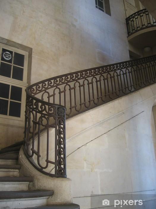 Fototapete Escalier - rampe en fer forgé