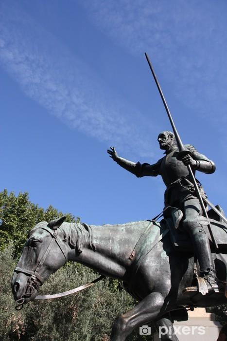 Fototapeta winylowa Don Kichot posąg w Madrycie - Miasta europejskie