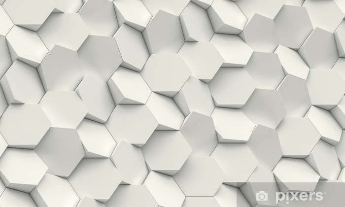 hexagon geometric background Pixerstick Sticker - Graphic Resources