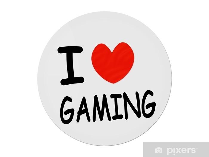 Vinilo Pixerstick Amo el juego, - Hobbies y entretenimiento