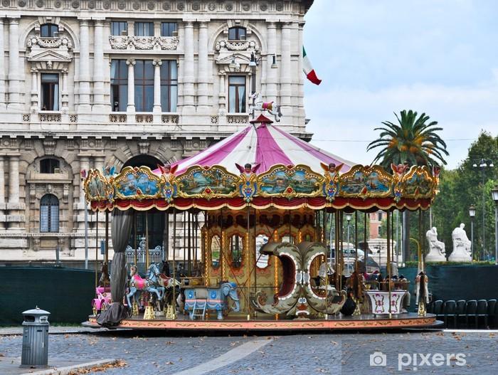 Carta da Parati in Vinile La Giostra - Città europee