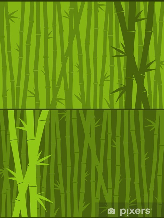 Green bamboo background Wall Mural - Vinyl