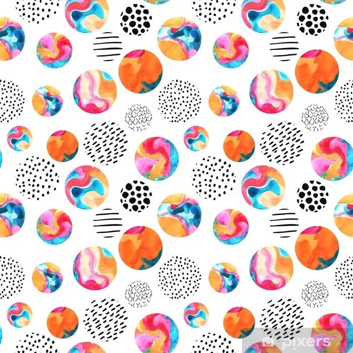 Poster Aquarell Kreise einfache nahtlose Muster - Grafische Elemente