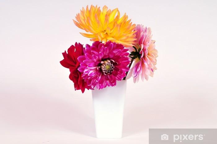 Sticker Pixerstick Blumen vase Dahlien - Saisons