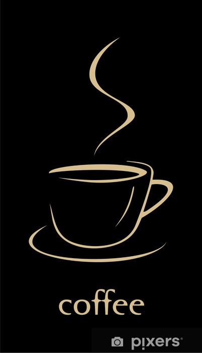 Carta da Parati in Vinile Tazza di caffè - Pasti
