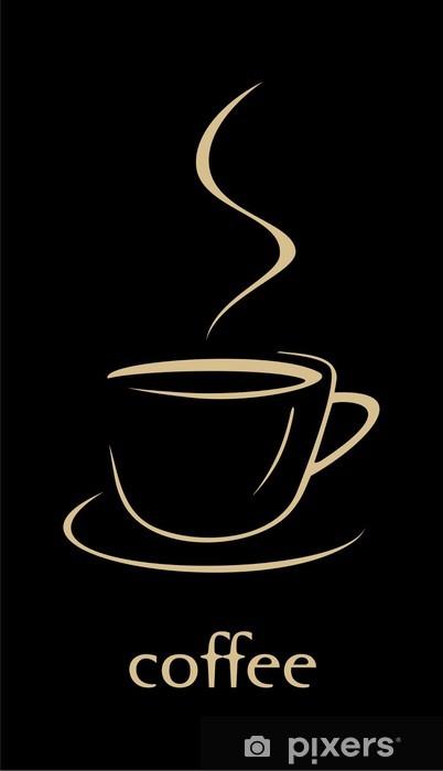 Vinyl-Fototapete Cup of coffee - Gerichte