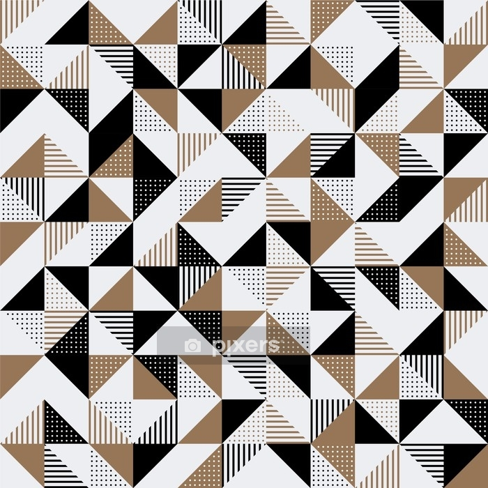 Federa per piumoni Uno sfondo geometrico nero e oro. - Risorse Grafiche