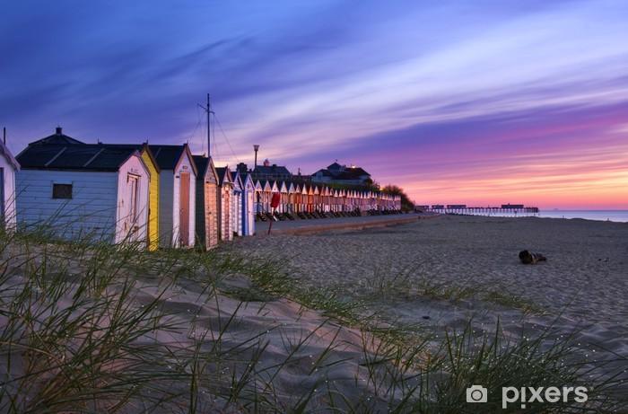 Vinyl-Fototapete Southwold Beach Huts - Private Gebäude