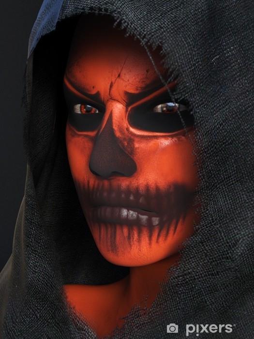 Alfombrilla de baño Representación 3d de una cara con el maquillaje nr 2 de la calabaza de Halloween. - Religiones y culturas