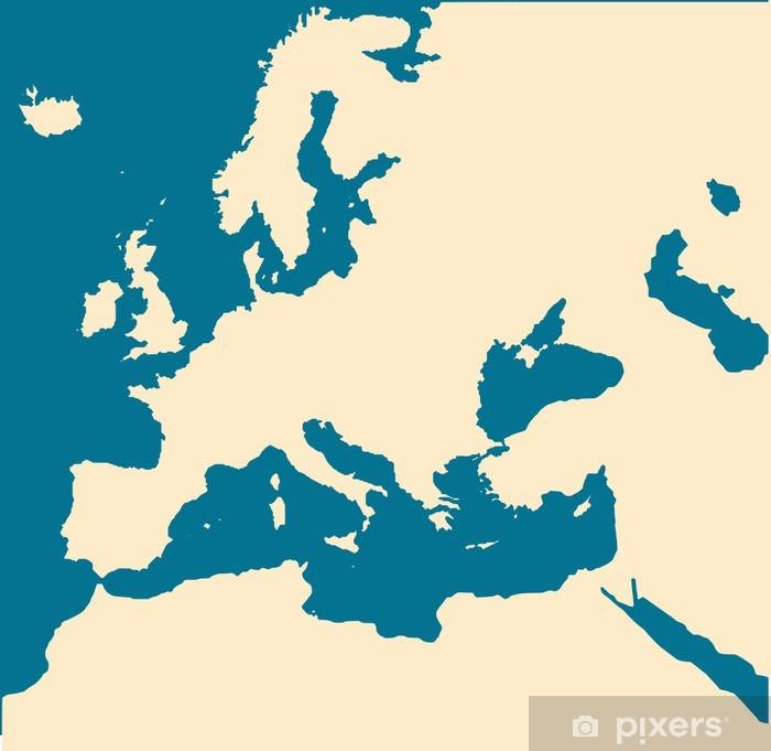 Tyhja Eurooppa Kartta Pixerstick Tarra Pixers Elamme Muutoksille