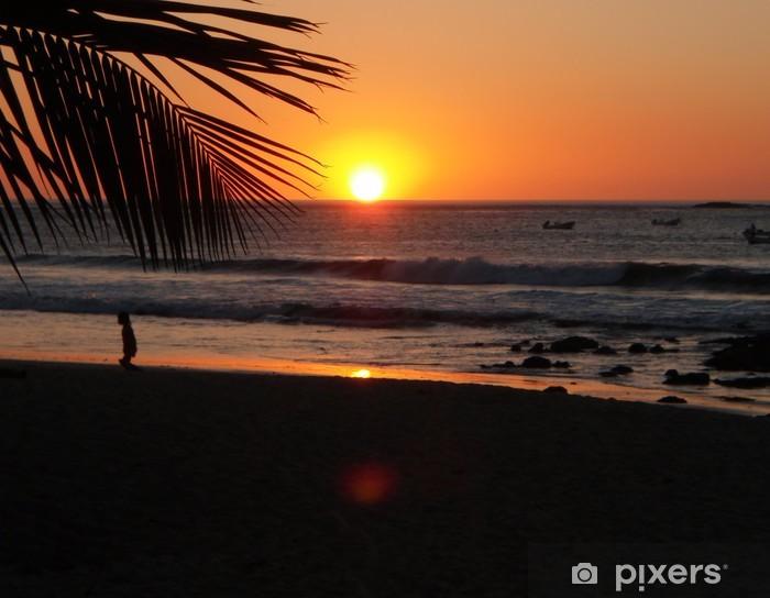 Papier peint vinyle Costa rica coucher du soleil - Amérique