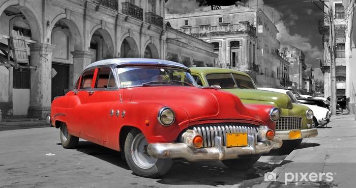 Fototapeta winylowa Hawana samochody panorama kolorowe -