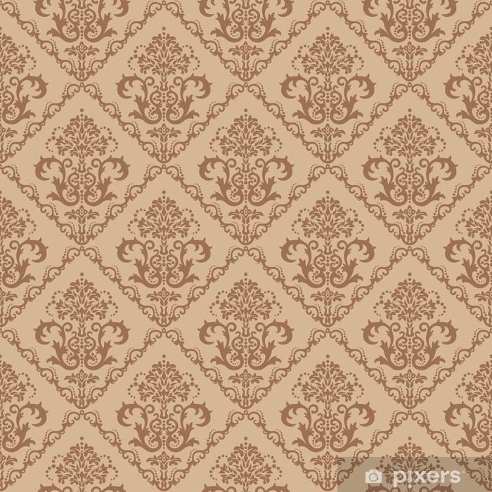 Plakát Bezešvé hnědé květinové tapety - Styly