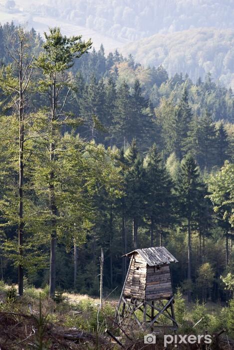 Sticker Pixerstick Montagnes Owl - Vacances