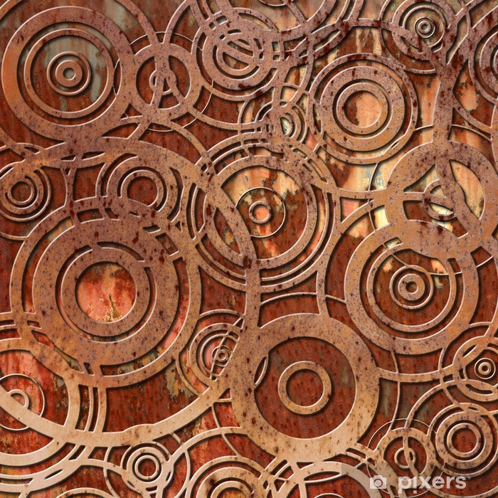 Poster Metal rouille background - Styles