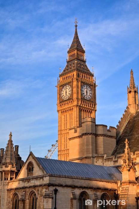 Vinyl-Fototapete Big Ben Parlament - Themen