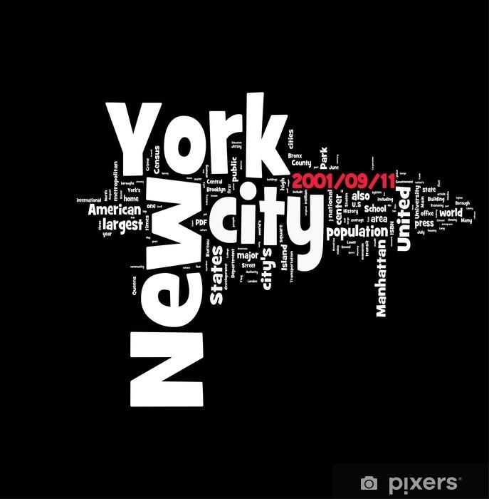 Sticker Pixerstick New York / 11 Septembre - Villes américaines