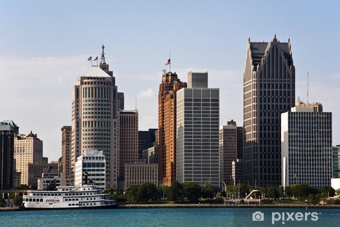 Fototapeta winylowa Downtown Detroit Michigan Skyline - Pejzaż miejski