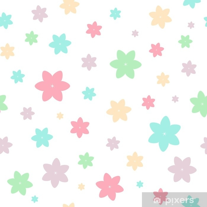 Baby seamless vector pattern Self-Adhesive Wall Mural - Graphic Resources