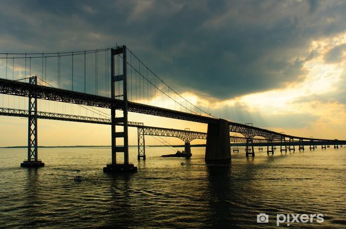 Vinyl-Fototapete Chesapeake Bay Brücken von einem Kreuzfahrtschiff Deck - Wasser