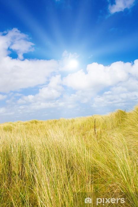 Sticker Pixerstick Idyliische paysage d'été sur la mer du Nord - Saisons