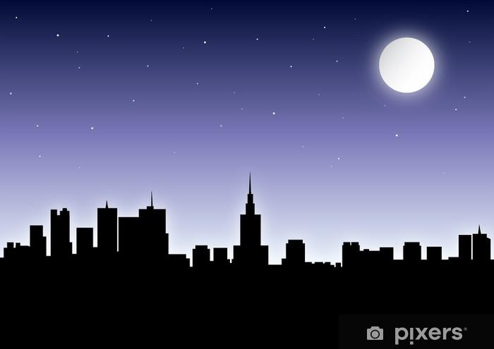 Nálepka Pixerstick Warschau v noci - Témata