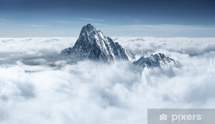 Mountains in the clouds Vinyl Wall Mural - Styles