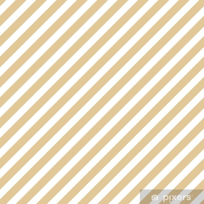 Vinyl-Fototapete Streifen beige nahtlose Muster - Grafische Elemente