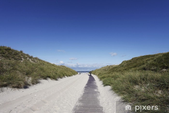 Nálepka Pixerstick Weisse Düne von Norderney - bílá duna of Nerderney - Prázdniny