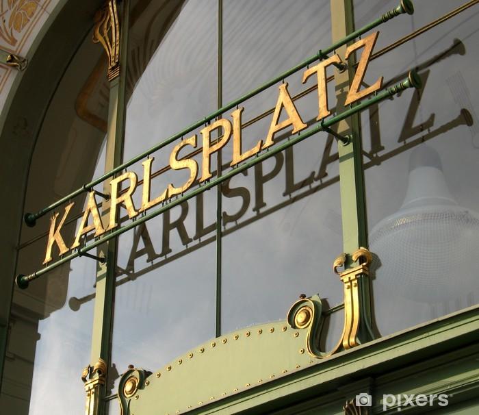 Naklejka Pixerstick Wiedeń Austria Karlsplatz - Miasta europejskie
