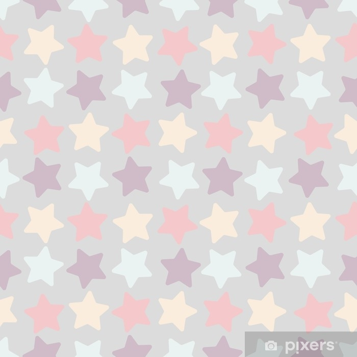 Seamless stars pattern. Colorful geometric vector illustration with stars on vintage style Washable Wall Mural - Graphic Resources