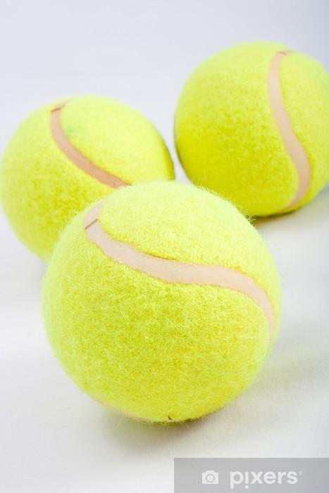 Naklejka Pixerstick 3 piłka tenisowa na białym - Tenis