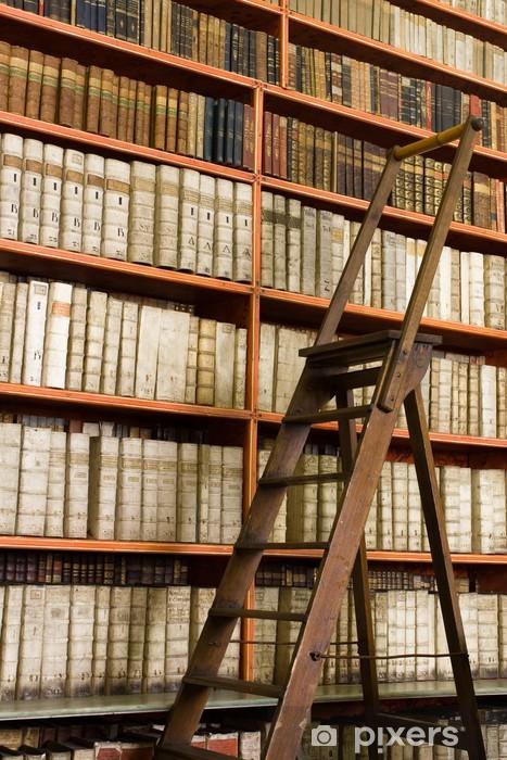 Papier Peint Livres Bibliotheque papier peint Étagères avec des livres anciens de la bibliothèque et
