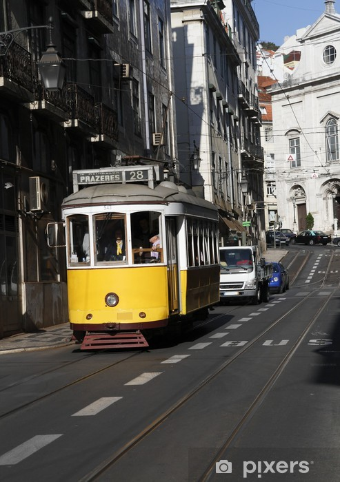 Pixerstick Sticker Straat van Lissabon - Spoorwegen
