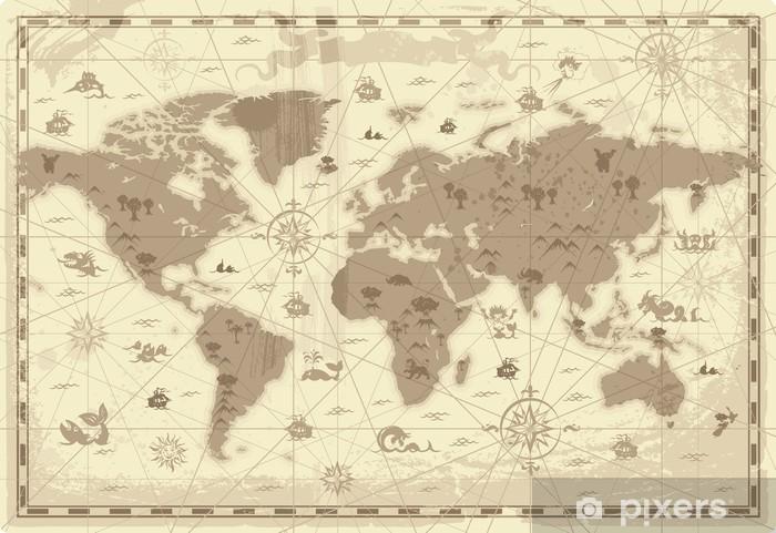 Pixerstick Sticker Ancient World map - Thema's