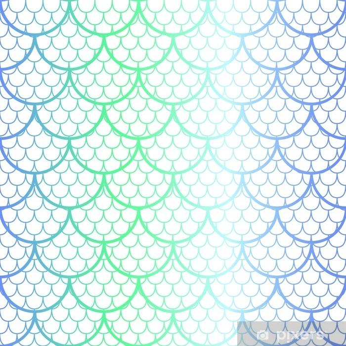 251ef181 Fototapet av vinyl Fantastisk fiskeskala vektor mønster. havfrue halen skala  sømløs mønster.