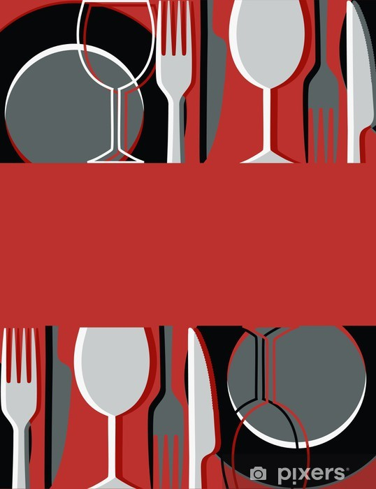 Vinil Duvar Resmi Menü veya restoran kartı -