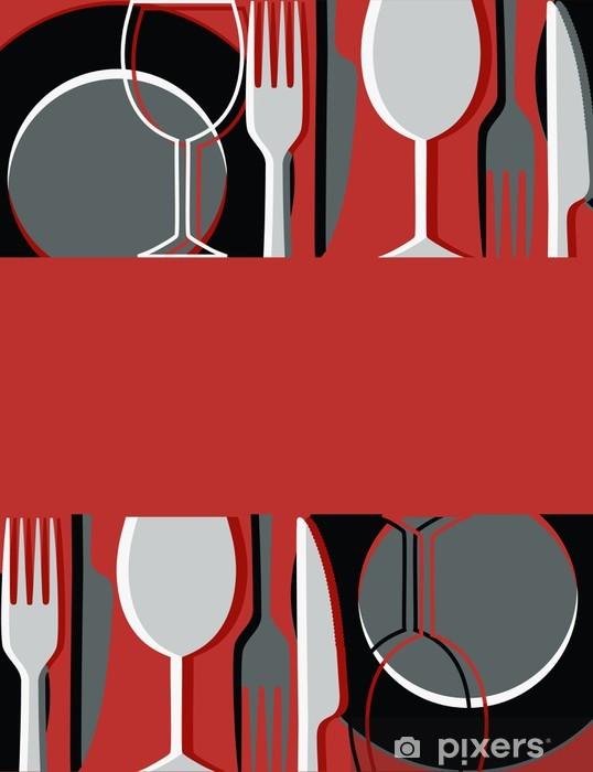 Menu or restaurant card Pixerstick Sticker - Themes