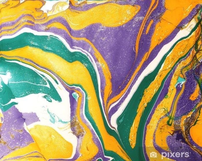 Abstrakti marmori maalaus tausta. kirkas sekoittaa eloisia värejä. nestemäinen maali. Pixerstick tarra - Graafiset Resurssit