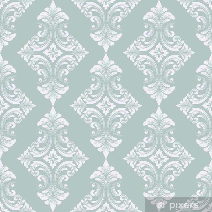Självhäftande Fototapet Vektor damast sömlösa mönster bakgrund. klassisk lyx gammaldags damask prydnad, royal victorian sömlös textur för tapeter, textil, inslagning. utsökt blommig barockmall - Grafiska resurser