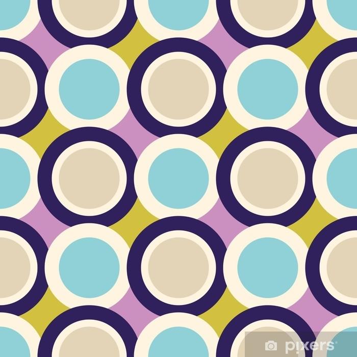 Fotomural Autoadhesivo Retro de patrones sin fisuras con círculos - Recursos gráficos