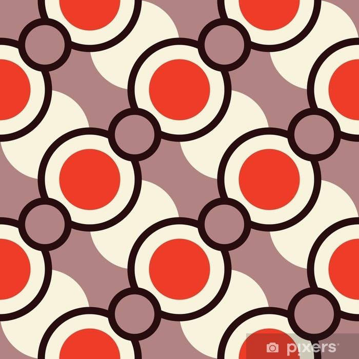 Pixerstick Sticker Retro naadloos patroon met cirkels - Grafische Bronnen