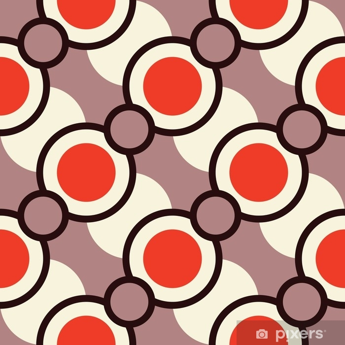 Retro seamless pattern with circles Pixerstick Sticker - Graphic Resources
