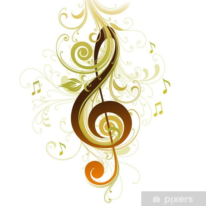 Carta da parati chiave di violino pixers viviamo per for Carta parati vinile