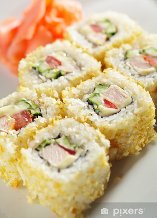 Papier peint vinyle La cuisine japonaise. Maki sushi. - Sushi
