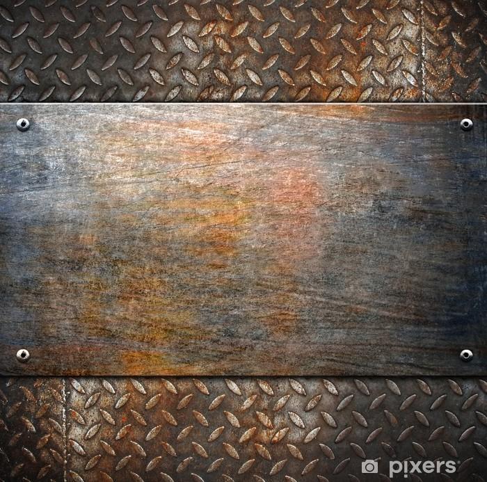Pixerstick Sticker Patroon van metalen achtergrond - Stijlen