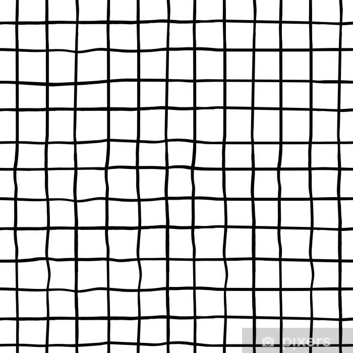 Vinyl-Fototapete Nahtloses Muster mit Hand gezeichneten Tintenformen. trendy schwarzen und weißen Hintergrund. ideal für Stoff, Textil, Verpackung. Vektor-Illustration - Grafische Elemente